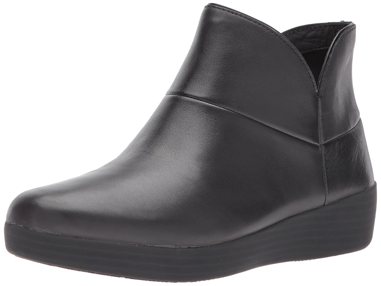 FitFlop Women's Supermod Ii Leather Ankle Boot B0756FDXTD 8 B(M) US|All Black