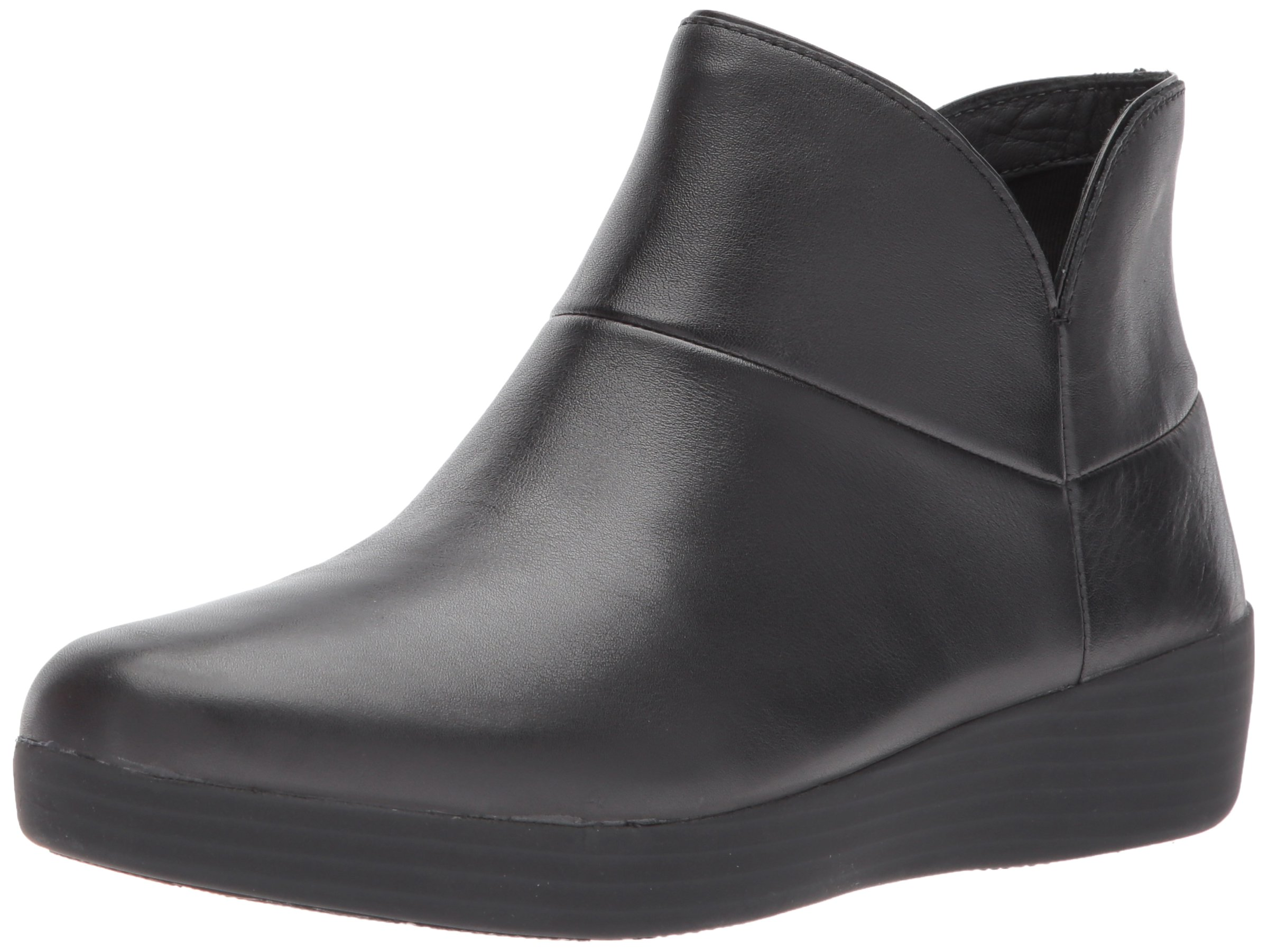FitFlop Women's Supermod II Leather Ankle Boot, All Black, 11 M US by FitFlop (Image #1)