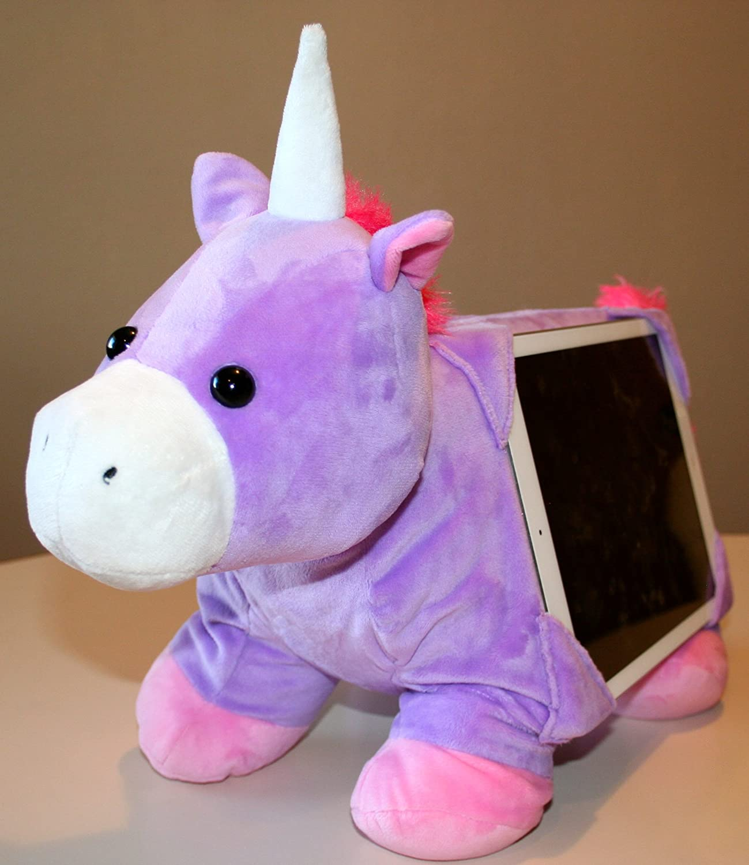 tabbeez stuffed animal tablet pillow toy holder