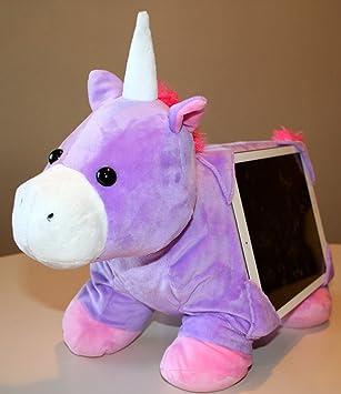 "Tabbeez Stuffed Animal Tablet Pillow / Toy / Holder - ""Alexa""  Unicorn for"