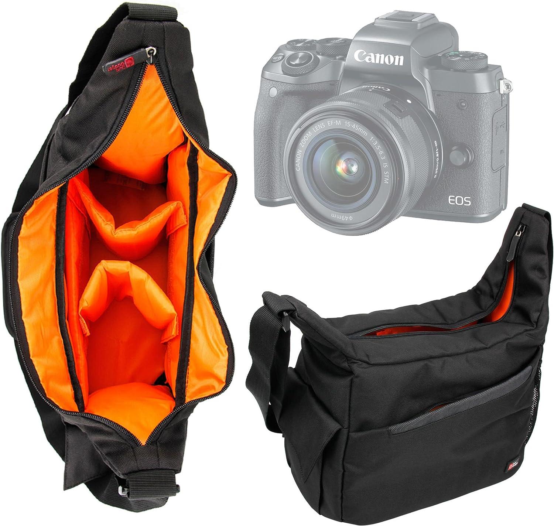 Olympus E-M1 II /& E-PL8 appareils Photos et Leurs Accessoires Leica Sofort Duragadget Sac /à Dos Noir pour Canon EOS M5 // EOS 5D Mark IV Hasselblad X1D