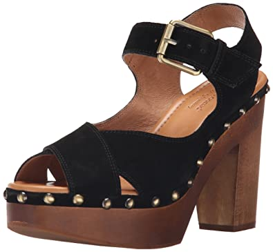 Corso Como Women's NOLA Platform Dress Sandal, Black Split Suede, ...