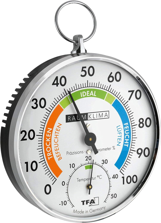 3 x Mini-Innen-Analog-Feuchtigkeitsmesser Uhr-Form Hygrometer-Thermometer