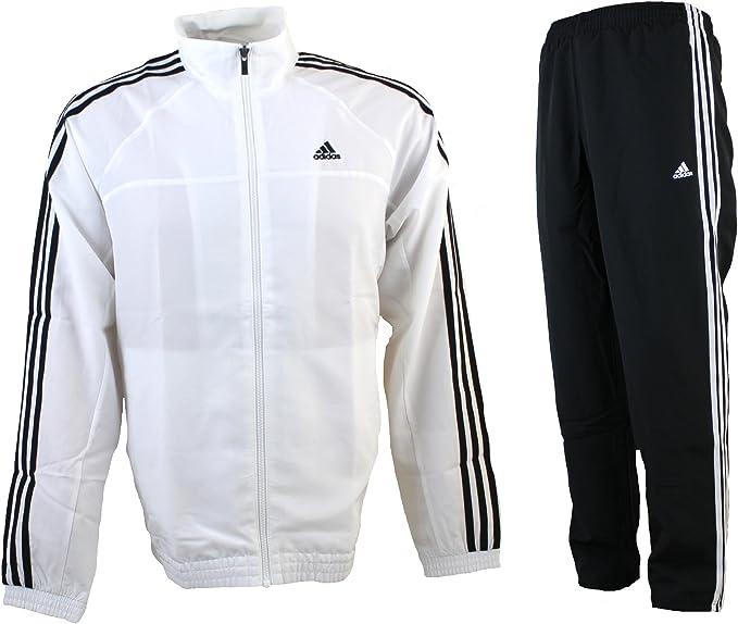 adidas Herren Trainingsanzug Essentials 3 Stripes Tracksuit Woven,