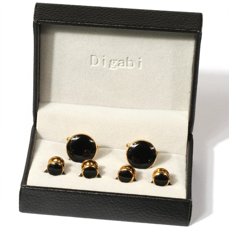 Tuxedo Cufflinks and Studs By Digabi (Black)