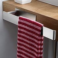 ZUNTO Wieszak na ręczniki, bez wiercenia, samoprzylepny, z boku, szafka łazienkowa, stal nierdzewna, pierścień na…