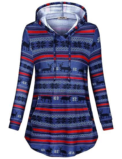 fbef3225ff3bd1 Amazon.com  Hibelle Women s Long Sleeve Pullover Kangaroo Pocket ...