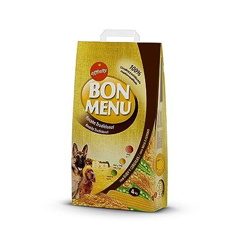 Affinity - Bon Menu - Receta Tradicional - Alimento Completo para Perros Adultos - 4 Kg