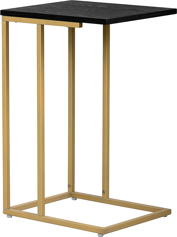Serta FUST10064B Harton C-Table, Black & Gold