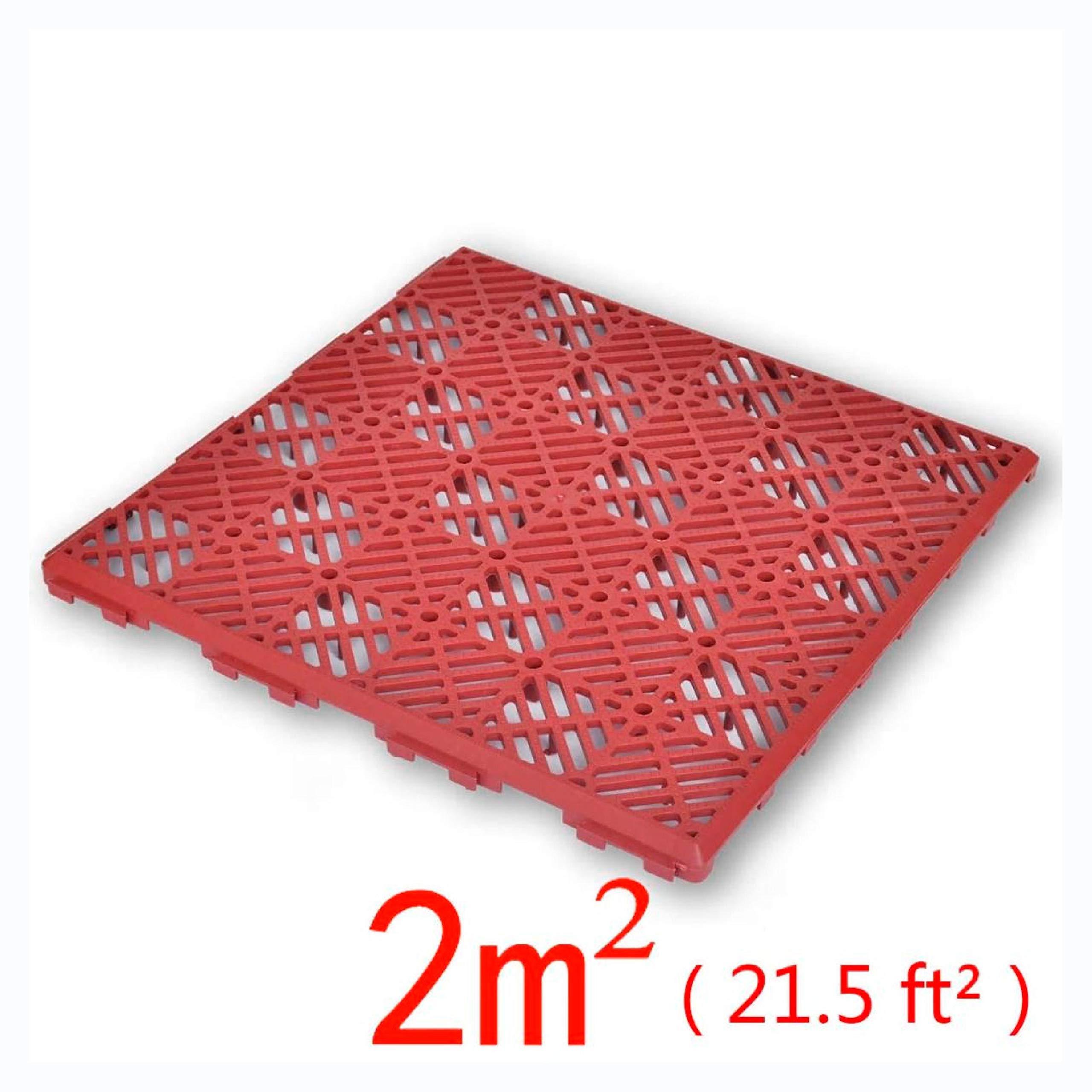 K&A Company Garden Tiles Plastic Floor Tiles 11.4''x11.4'' 24 pcs