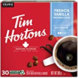 Tim Hortons French Vanilla Coffee, Recyclable Single Serve Keurig K-Cup Pods, Flavoured Medium Roast, 30 Count