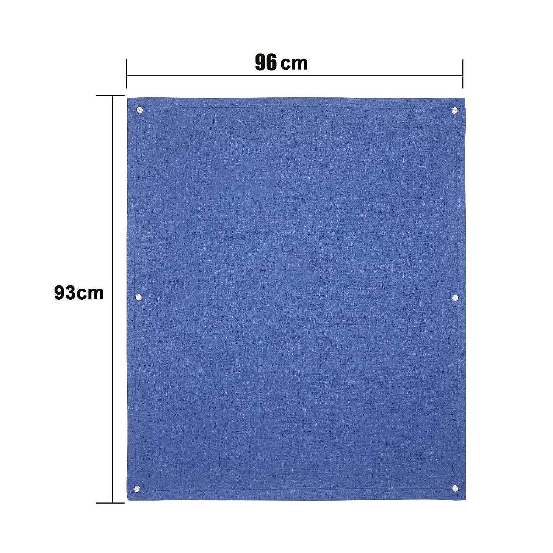 HDM 38x75 cm Bleu Fonc/é Store pour Fen/être de Toit Velux Rideau Occultant Compl/ète avec Ventouses sans Per/çage Protection Solaire au Rev/êtement Thermique Protection