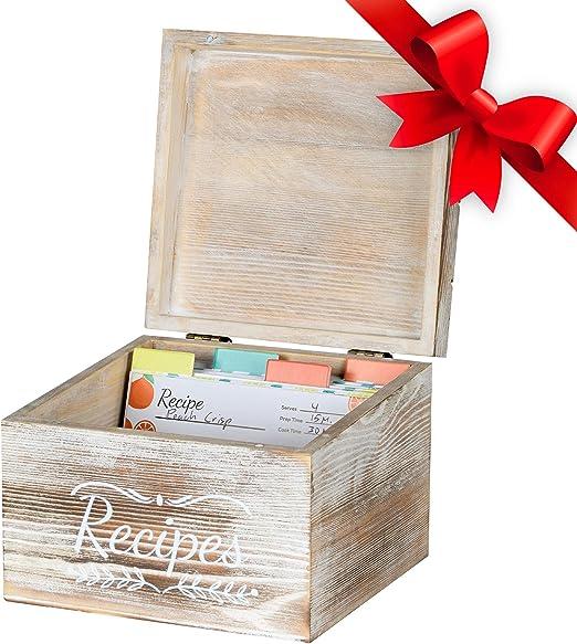 Amazon.com: Pinelive TriSlot Caja de Recetas con Tarjetas y ...