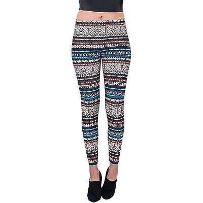 Aerusi Women's Glacial Design Full Length Stretchy Leggings