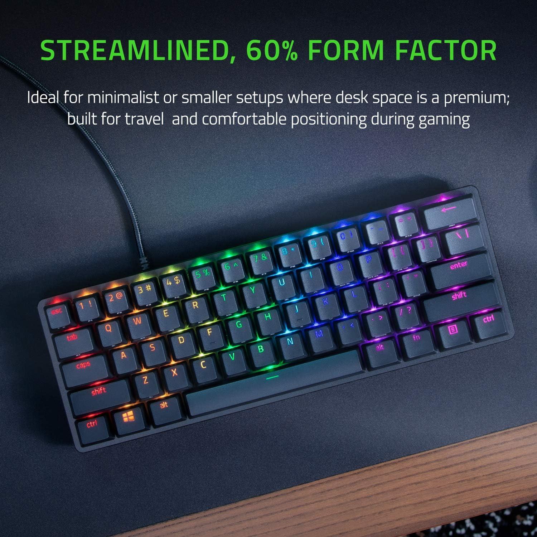 Razer Huntsman Mini - Linear Optical Switch - US - Black 60% Gaming Keyboard with Razer Optical Switch 5
