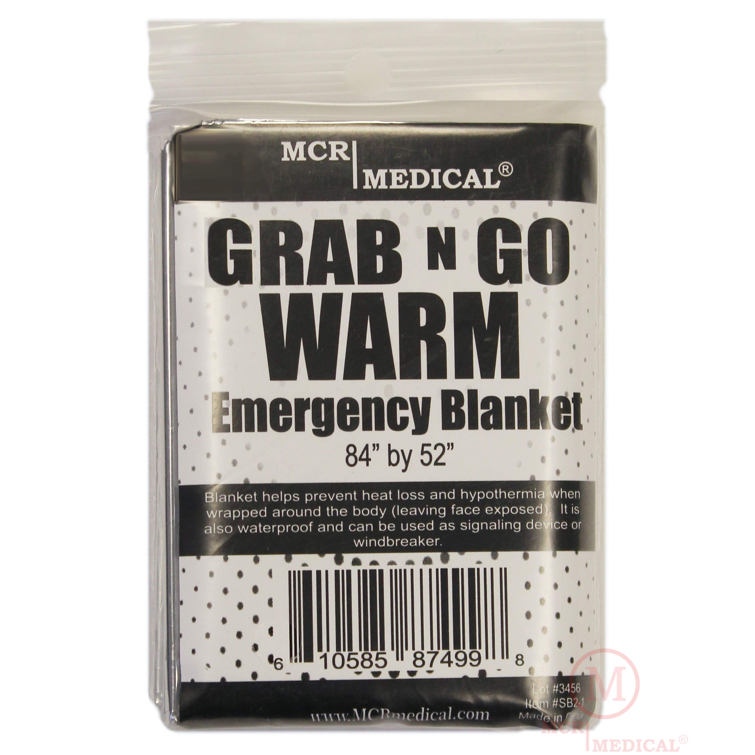 MCR Medical Supply SB2-200 Silver Mylar Emergency Blanket, 84'' x 52'' (Pack of 200) by MCR Medical (Image #1)