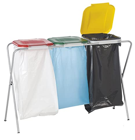 Casibel E103 - Soporte triple portátil para bolsas de basura ...
