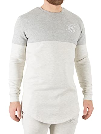 Sik Silk Mens Sweatshirt, White, X-Small