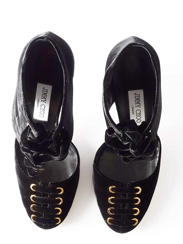 Jimmy Choo - - - Mari 100 - Damen Schuhe - Pumps Schwarz Velvet Gr  38.5 2dab6f