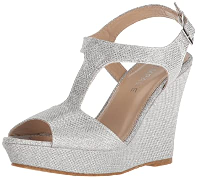 8fdb442e94aa50 Rampage Women s Candelas Platform Ankle Strap Dress Wedge Sandal