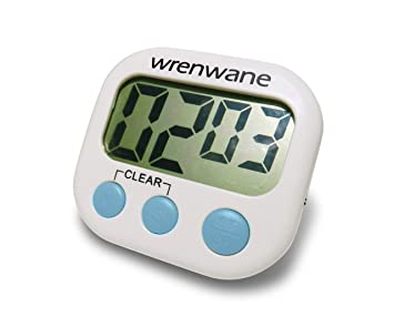 Amazon com Wrenwane Digital Kitchen Timer Big Digits Loud Alarm
