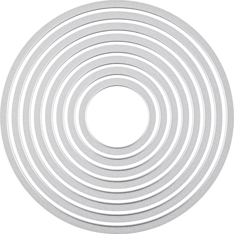 Juego de troqueles 8 unidades varios colores Ellison Europe Sizzix Framelits dise/ño circular