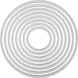Sizzix  18657551 Big Shot Cercles Framelits Set de 8 Matrices de Découpe pour Machine Plastique Multicolore 16 x 1 x 25 cm