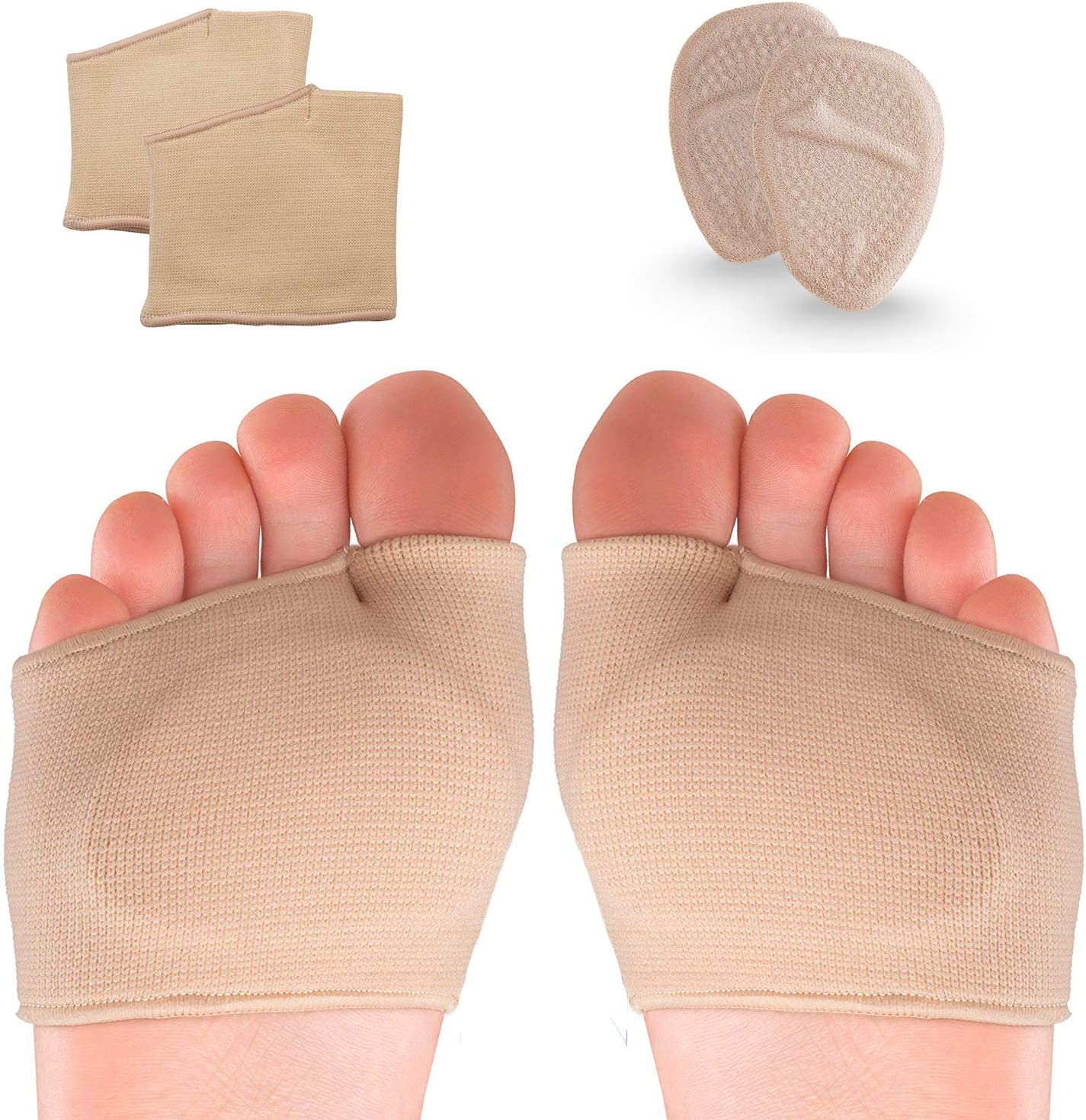 Metatarsal Pads, Ball of Foot Cushions, Soft Gel Foot Pads for Foot Instant Pain Relief