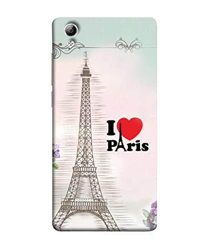 quality design cb42a 44629 VIVo Y51, VIVo Y51L Back Cover I Love Paris With: Amazon.in: Electronics