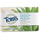 Tom's of Maine Natural Beauty Bar Soap with Aloe Vera, Fragrance Free, 5 oz
