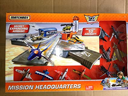 Matchbox Sky Busters Missions Sonstige Mission Headquarters Playset with 10 Aircraft