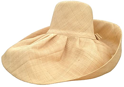 7a48a0b0ed465 Image Unavailable. Image not available for. Color  XL Head Huge Natural Raffia  Madagascar Hat ...