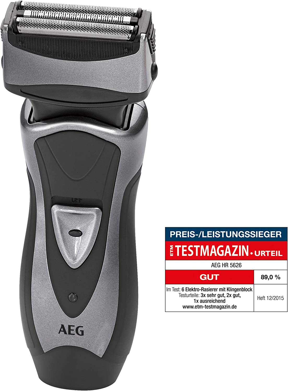 AEG HR 5626 - Afeitadora eléctrica con cabezal giratorio, recorta patillas, color antracita