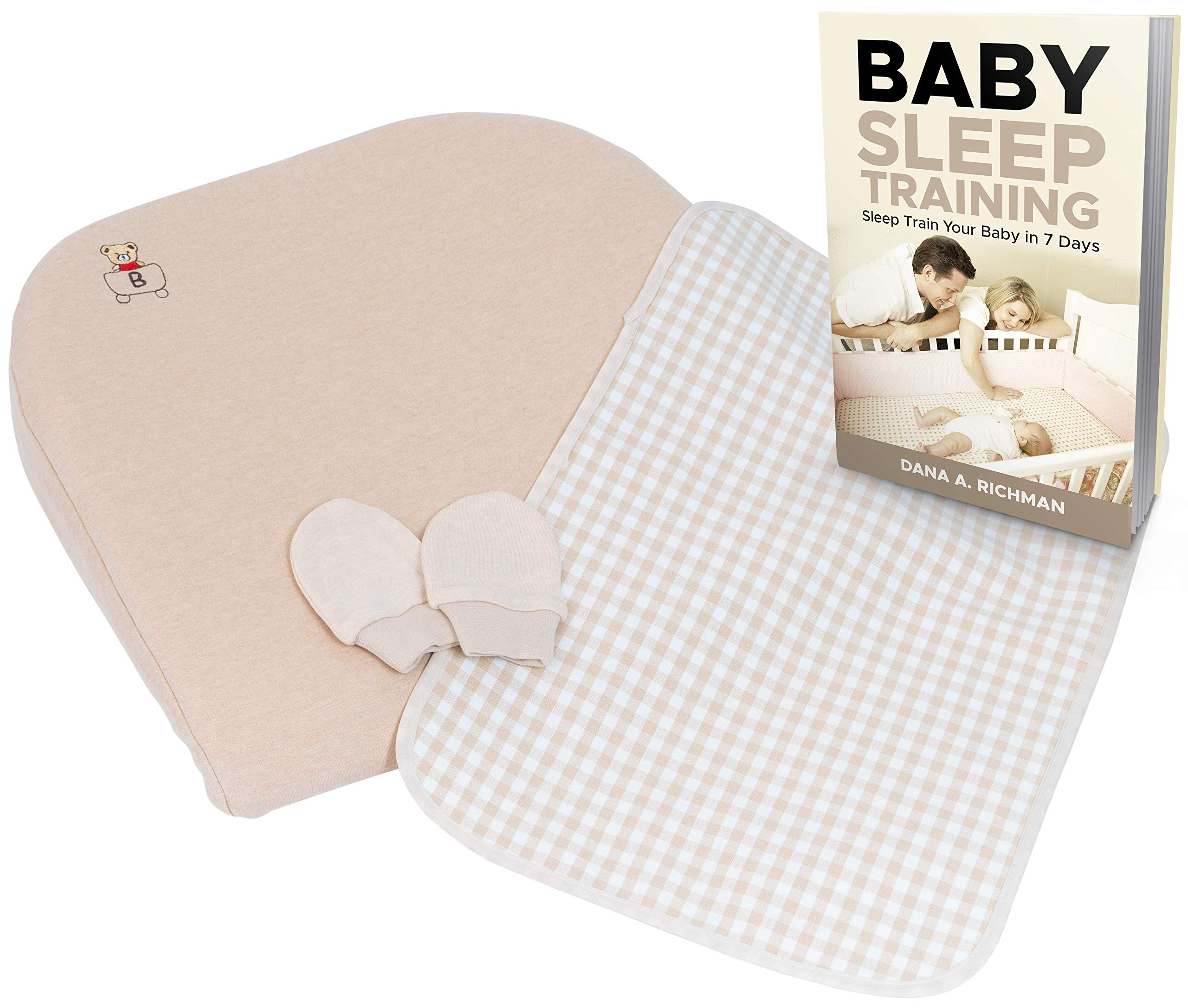 Nobletopia Baby Care Kit: Baby Wedge Pillow + No-Scratch Mittens + Changing Pad + eBook On Baby Sleep Training | Comfortable, Soft & Hypoallergenic | Universal Fit for Newborns, Boys & Girls