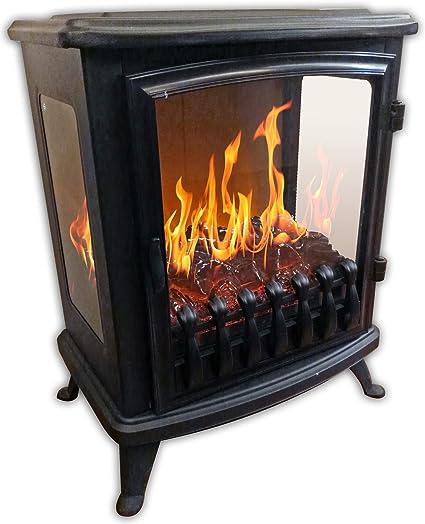 Chemin Arte 139 3d Fire Glass Caminetto Elettrico Nero Amazon It