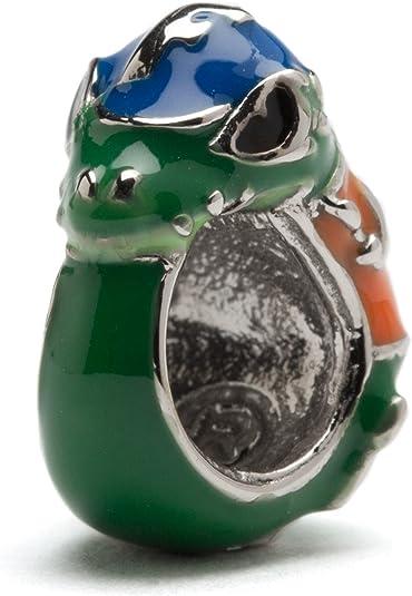 University of Florida Gators Spirit Carnelian and New Jade Gemstone Charm Bracelet