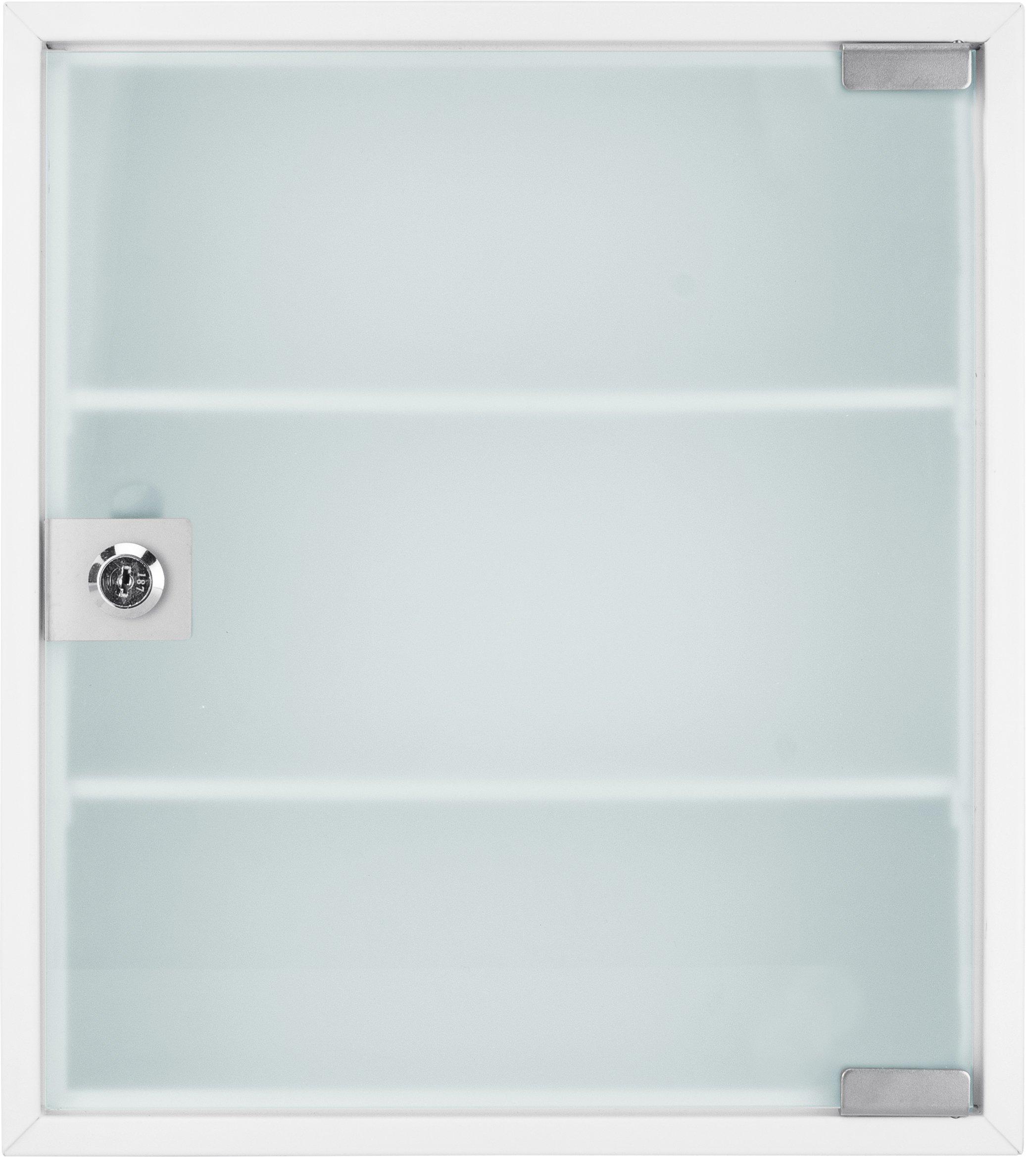Winbest Large Wall Mount Steel Medical Medicine Storage Cabinet with Glass Door