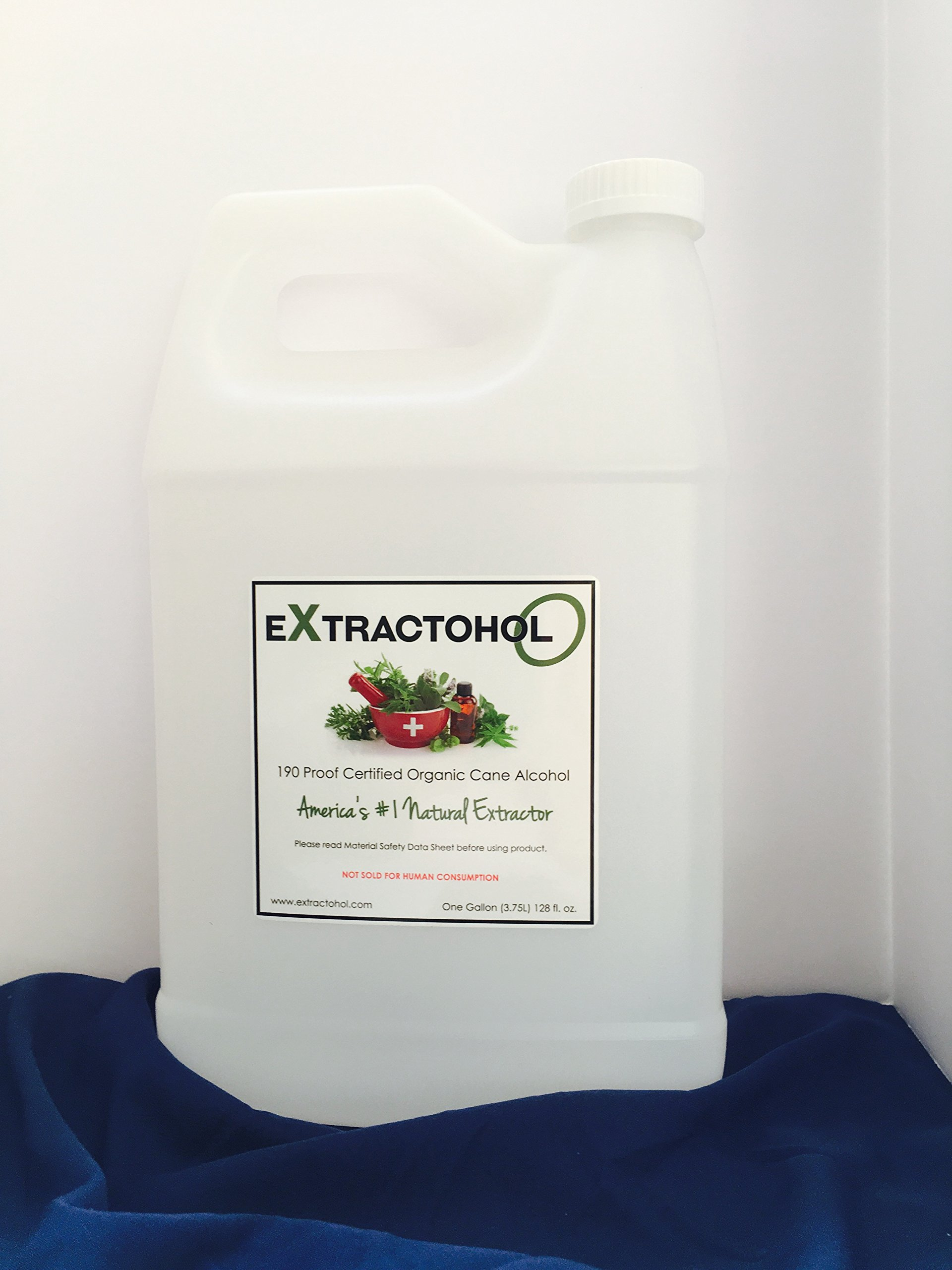 Extractohol-Organic USP Certified 190 Proof Cane (+ 8 oz extra - Free, added to Gallon!) by Tesla Scientific