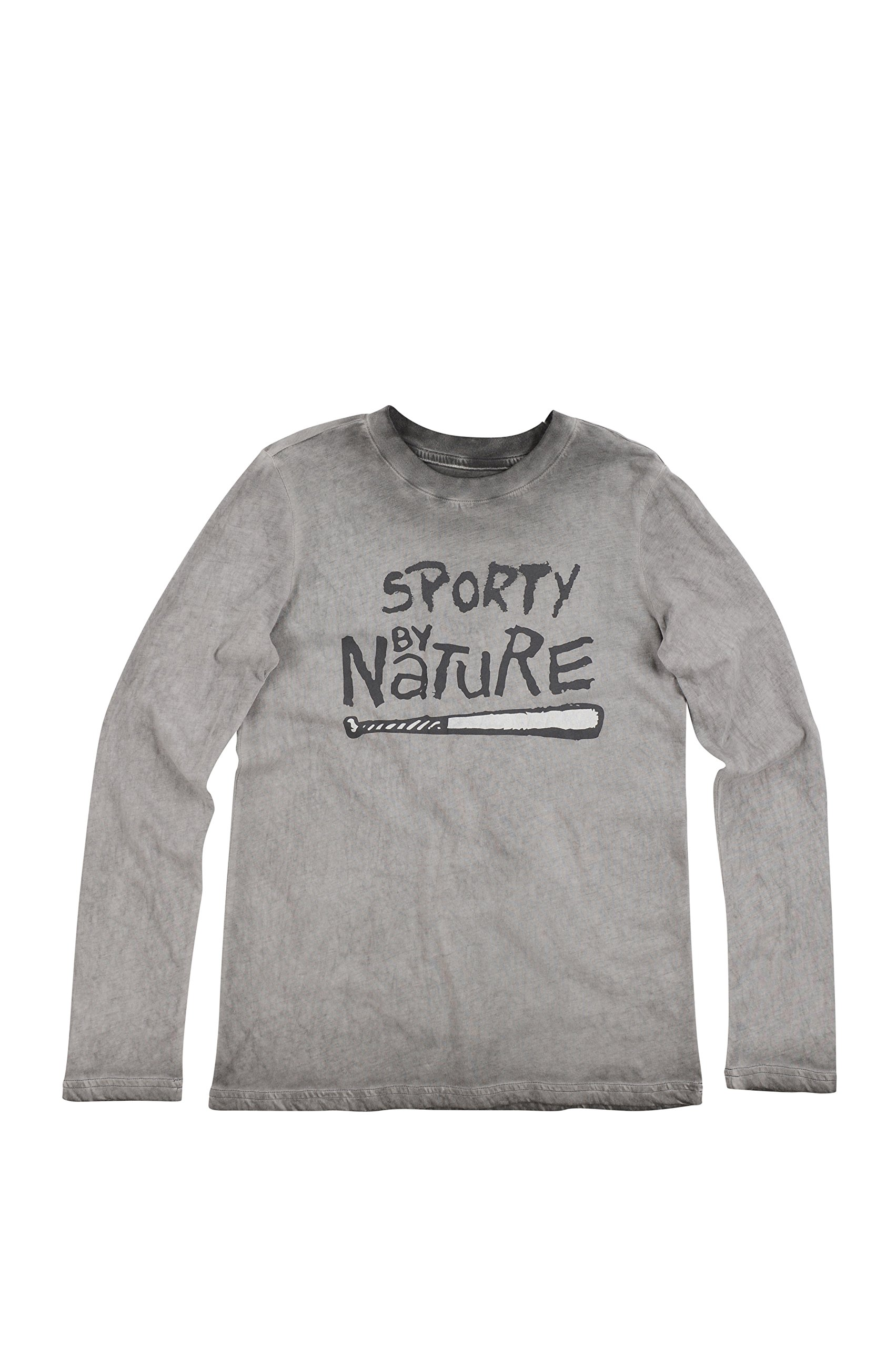 BUTTER SUPER SOFT Long Sleeve Crew Neck Sporty by Nature Mineral Wash T-Shirt Gargoyle Large by BUTTER SUPER SOFT