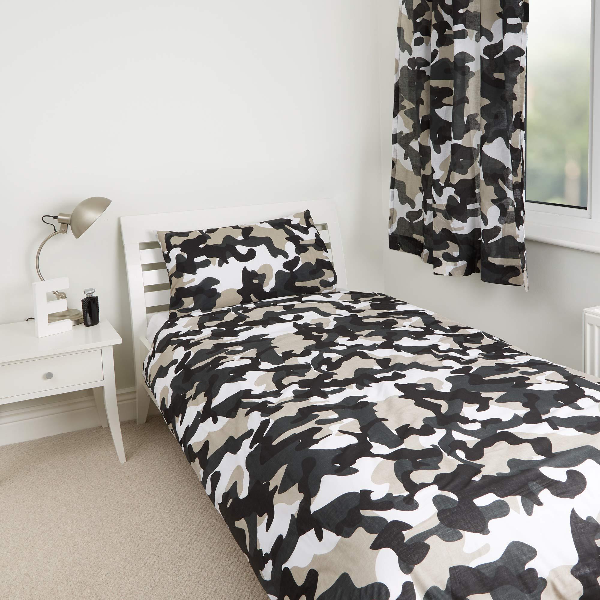Grey Camo Camouflage Design Kids Boys Girls Bedroom Duvet Cover Bedding Range 54 Curtains Buy Online In Grenada At Grenada Desertcart Com Productid 53718473