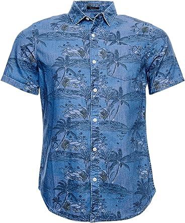 Superdry Miami Loom SS - Camisa para hombre: Amazon.es: Ropa y accesorios