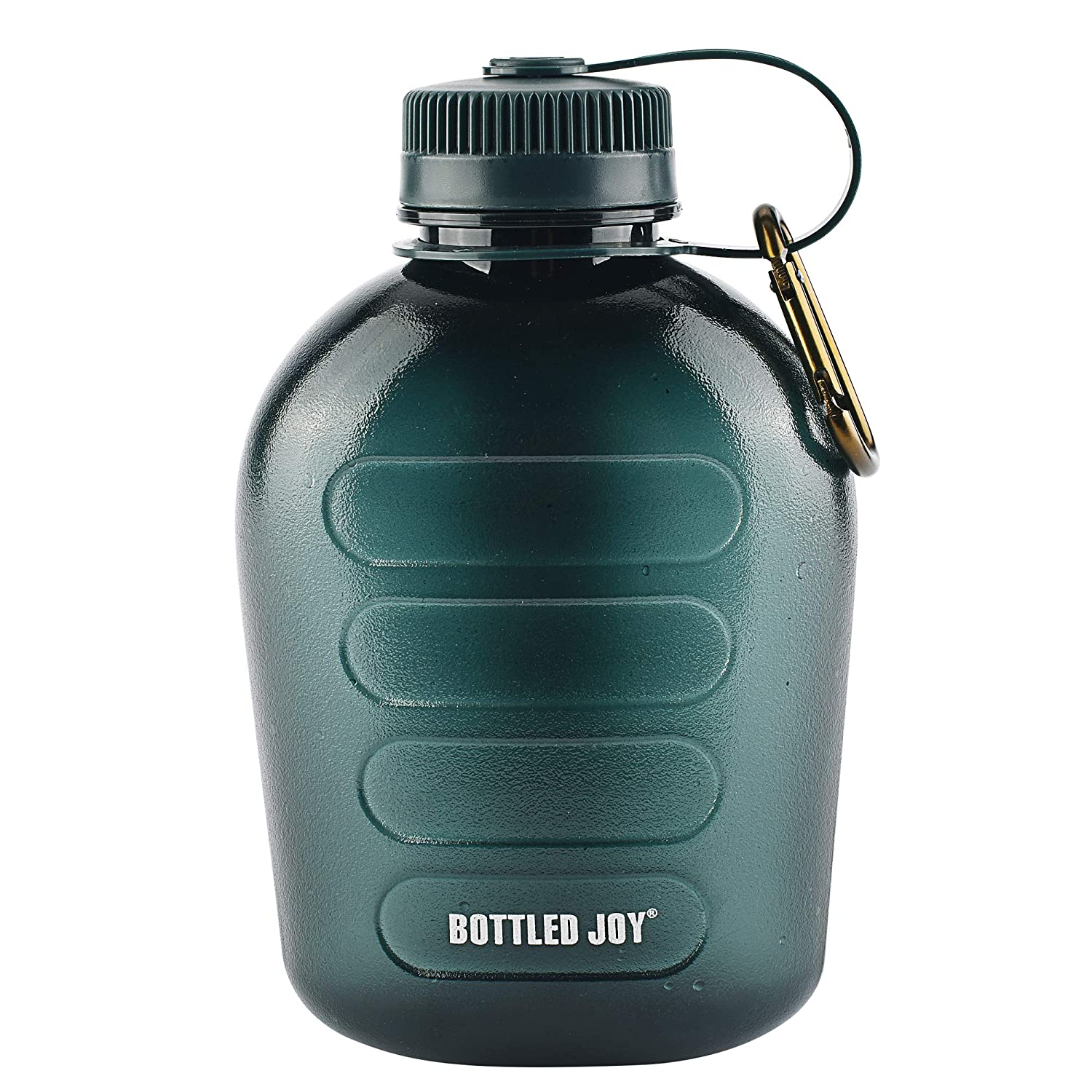 f9859d5f93 Amazon.com : BOTTLED JOY Military Canteen Water Bottle, Plastic Tritan  Sports Water Bottle Portable with Strap for Hiking Camping, 1 Quart :  Sports & ...