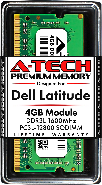 A-Tech 4GB RAM for Dell Latitude E6530, E6430, E6430s, 6430u, E6330, E6230, E5530, E5430, 3330 | DDR3/DDR3L 1600MHz SODIMM PC3L-12800 Laptop Memory Upgrade Module