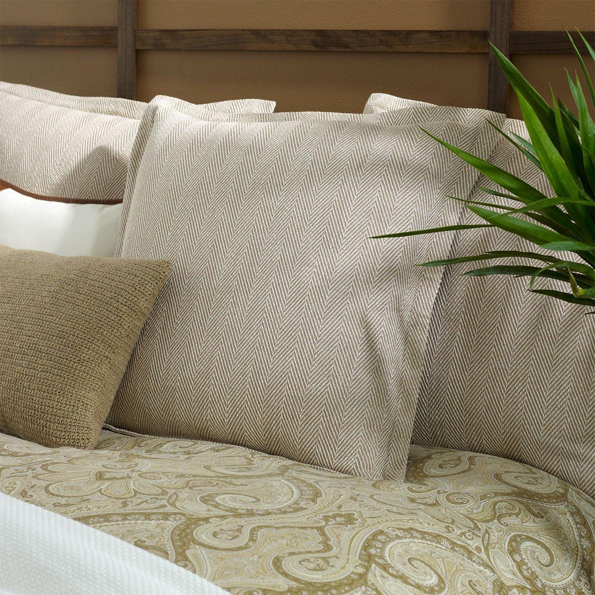 Ralph Lauren Desert Spa Herringbone Euro Pillow Sham