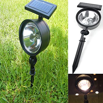 Hervorragend Bestwe 4 LED Warmweiß Wasserdicht Solar Strahler Spot Light  IV27