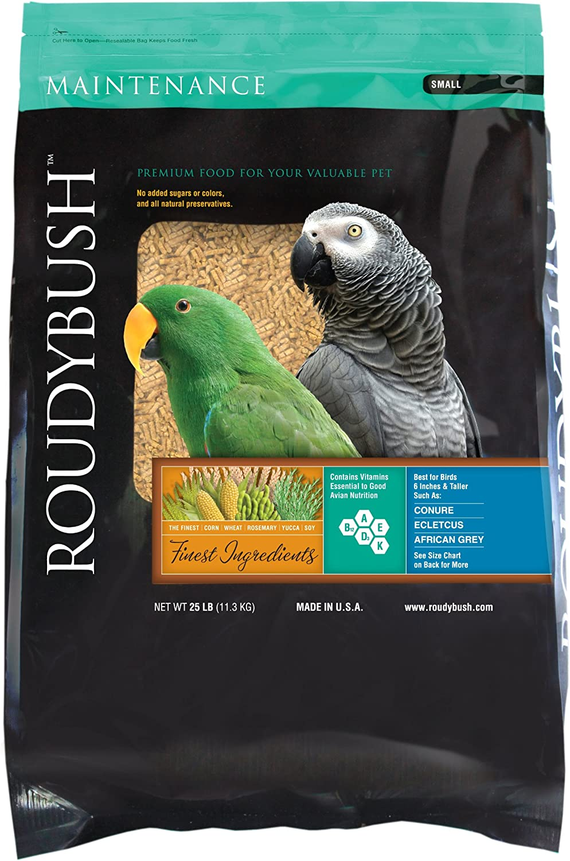 RoudyBush Daily Maintenance Bird Food, Small, 25-Pound