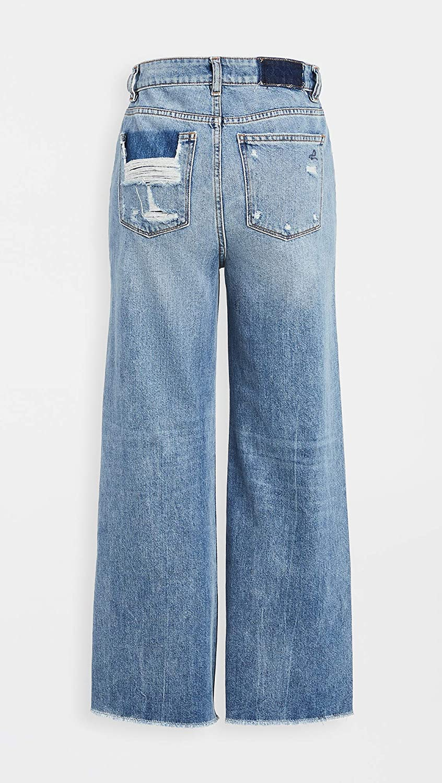 DL1961 Womens Hepburn Wide Leg Jeans
