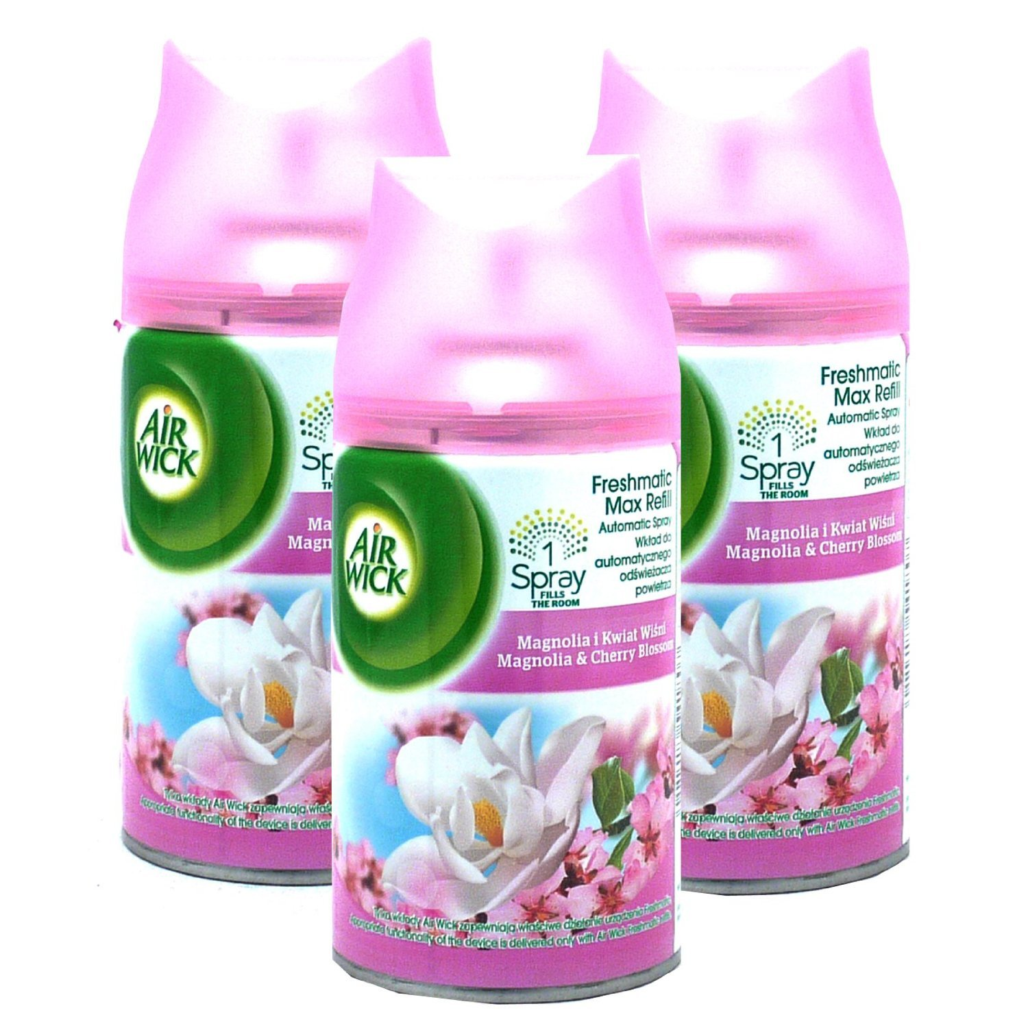 3 x Air Wick Freshmatic Max Refills 250ml - Magnolia & Cherry Blossom