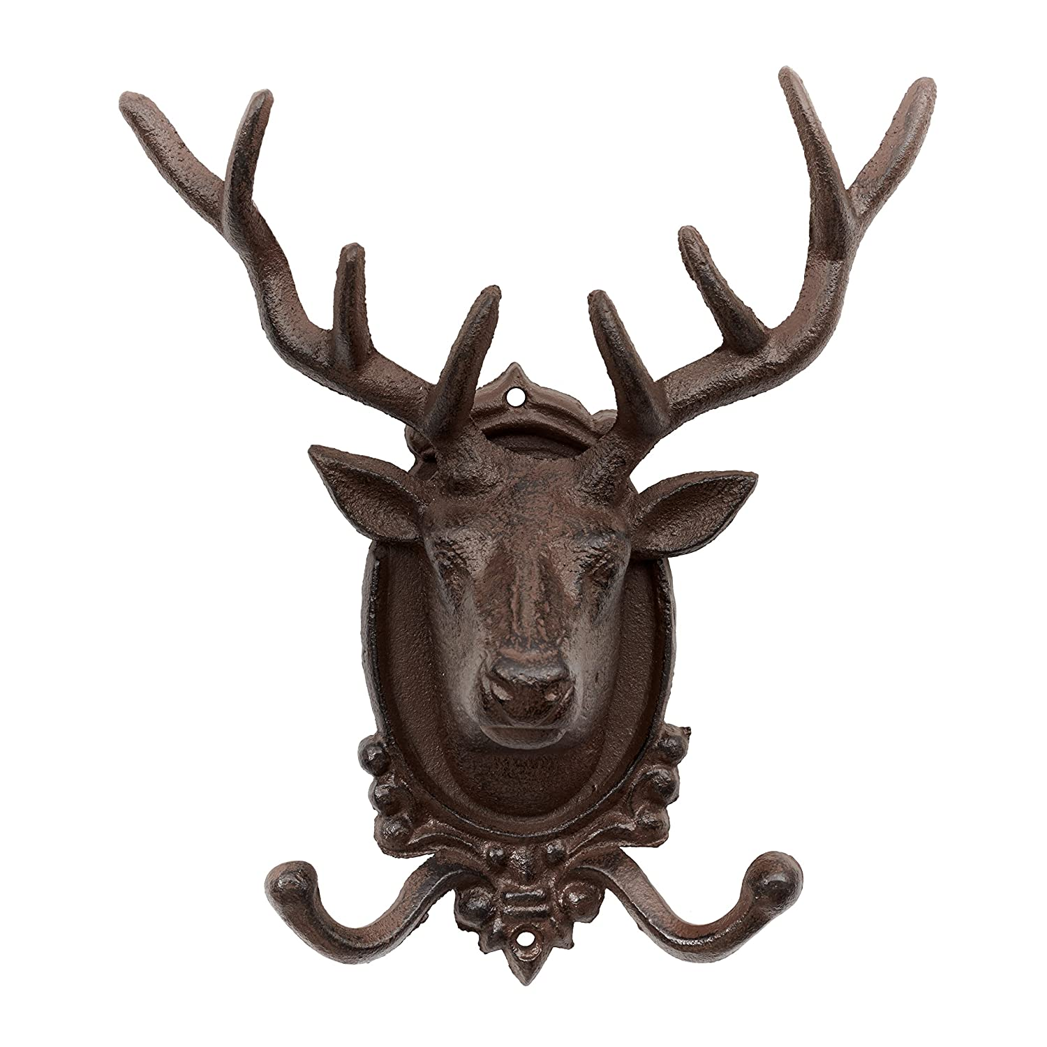 stag deer resin white w products head the maud decor taxidermy black antlers faux wall