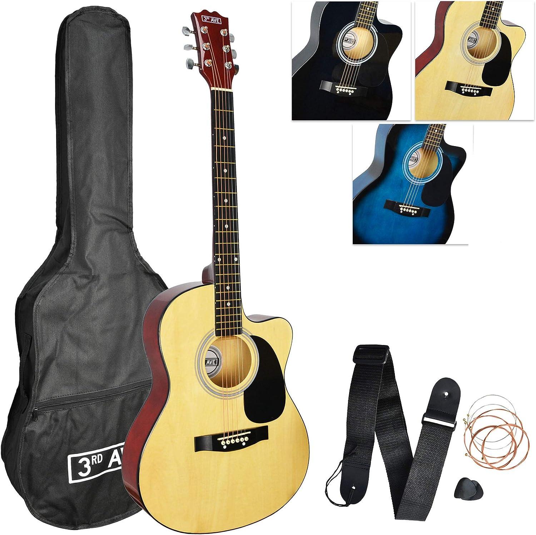 3rd Avenue STX10CANPK Pack de Guitarra Acústica Cutaway, Natural, Corte Acústico, Paquete estándar